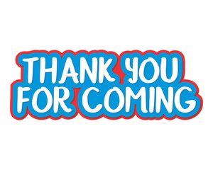 thank you for coming typography typographic creative writing text image 1