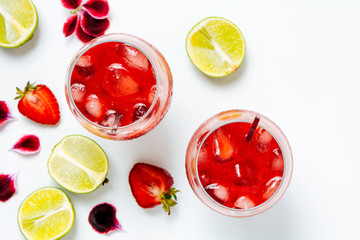 Strawberry  infused agua fresca