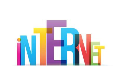 Papier Peint - INTERNET Vector Letters Icon