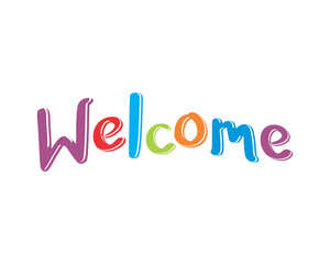 welcome typography typographic creative writing text image