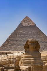 タイトル : カフラー王のピラミッドと大スフィンクス
