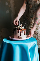 delicious chocolate drip cake