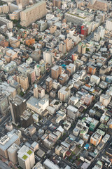 buildings in tokyo from above