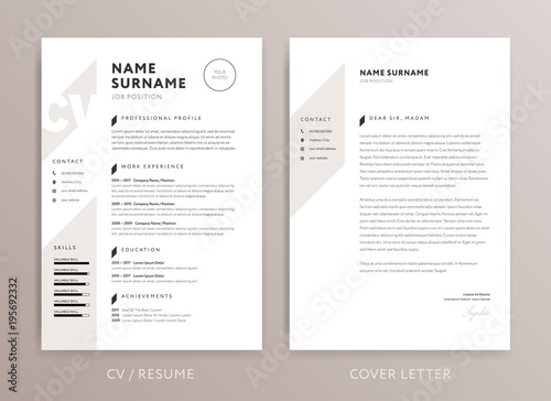 Stylish Cv Design Curriculum Vitae Cover Letter Template Rose
