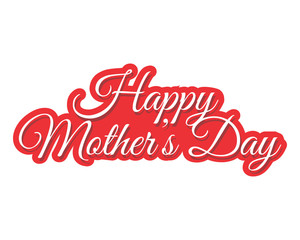 Happy mothers day typography typographic creative writing text image 3
