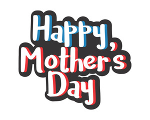 happy mothers day typography typographic creative writing text image 4