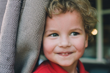 Portrait of a cute blond kid