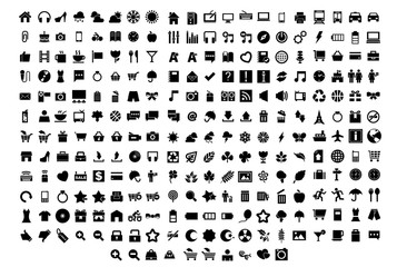 250  solid universal icons