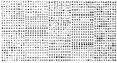 1250 solid universal icons - Vector