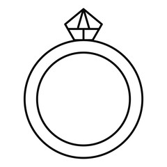 ring with diamond luxury icon vector illustration design
