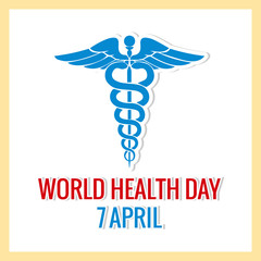 nice and beautiful abstract for World Health Day with nice and creative design illustration, 7th of April.