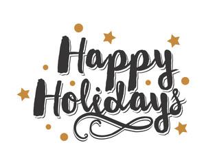 happy holidays icon typography typographic creative writing text image