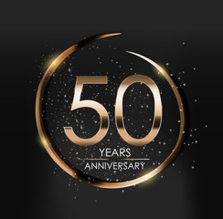 Template Logo 50 Years Anniversary Vector Illustration