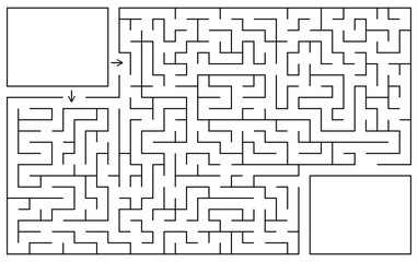 Labyrinth game. Maze conundrum with entry and exit