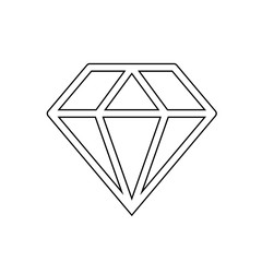Diamond sign icon. Jewelry symbol. Gem stone. Graphic element on white background.