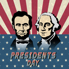 Happy Presidents Day, Abraham Lincoln and George Washington