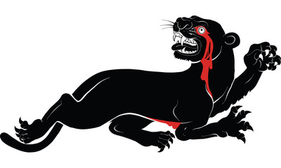 panther drawing vector