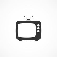 Vector image of a TV icon.