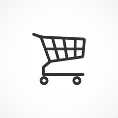 Vector image cart icon.