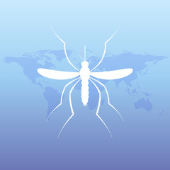 Zika mosquito images. Virus alert illustration. Aedes Aegypti isolated background.
