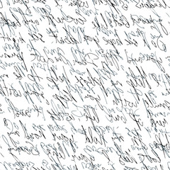 handwritten abstract text. Seamless pattern. Vector illustration for fabric texture