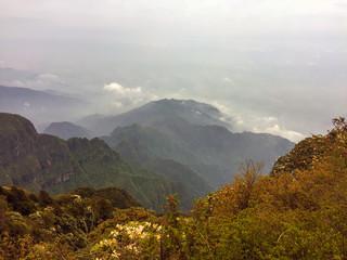 The Golden Top cloud sea in Mount Emei ,Sichuan, China
