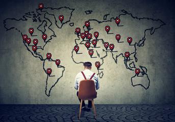 Man developing international business