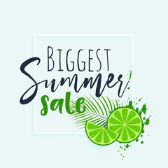 summer sale banner with fresh lime