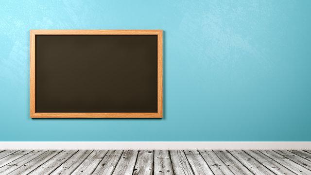 Blank Blackboard at the Wall
