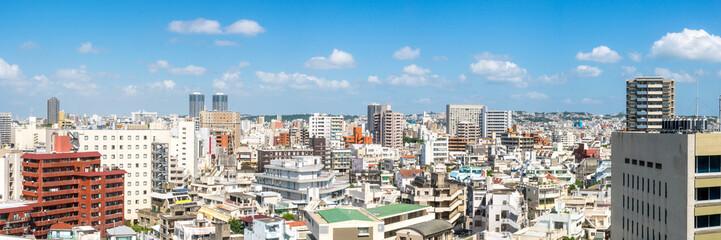 Naha Stadtansicht Panorama, Okinawa, Japan