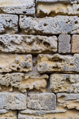 Texture of an old sandstone wall
