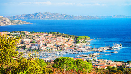 Landscape of Palau Maddalena Island in Sardinia