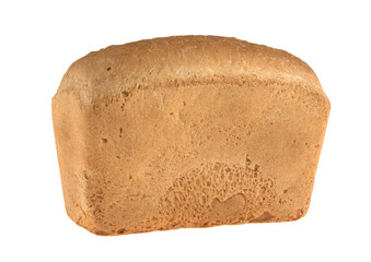 bread loaf of bricks isolated on white background
