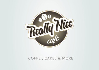 Cafe business restaurant logo coffee grains