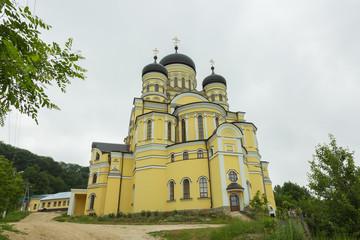 Large Christian Orthodox Church in the Hancu Monastery, Republic of Moldova.