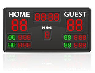 hockey sports digital scoreboard vector illustration