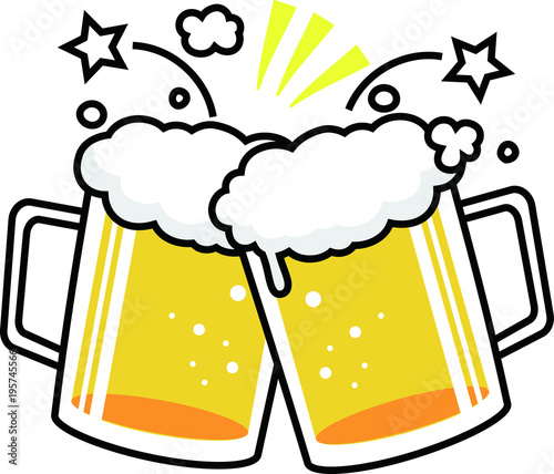 """Beer mug cheers"" Stock image and royalty-free vector ..."
