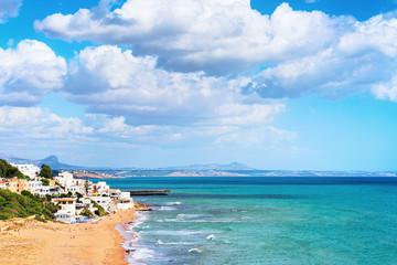 Cityscape with Mediterranean Sea in Selinunte