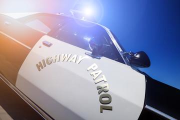 Police highway patrol car siren lights