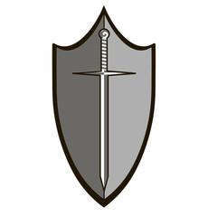 shield sword defense image