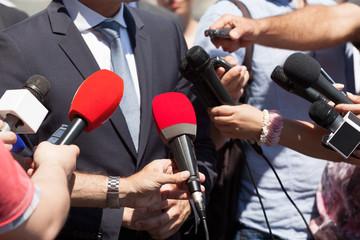 Public relations - PR. Media interview. Press conference.