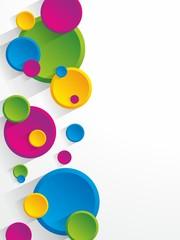 Creative circles background vector illustration
