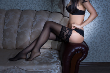 Sexy lady in sexy stockings