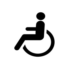 Disabled wheelchair icon. Disable symbol logo