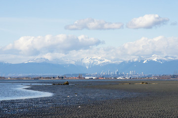 View on Vancouver from Crescent Beach, Surrey