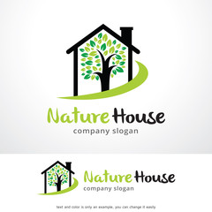Nature House Logo Template Design Vector, Emblem, Design Concept, Creative Symbol, Icon