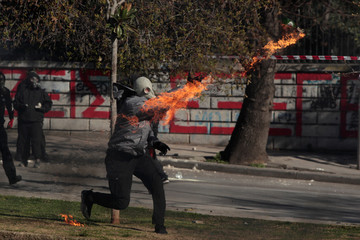 Clashes during a demonstration called by self-proclaimed anarchists from the Balkans against nationalism in Thessaloniki