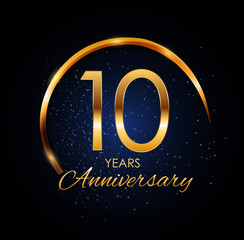 Template Logo 10 Year Anniversary Vector Illustration