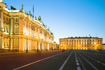 White night at the Winter Palace, Saint Petersburg