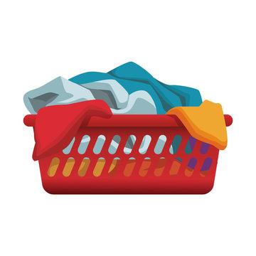 Clothes in basket vector illustration graphic design
